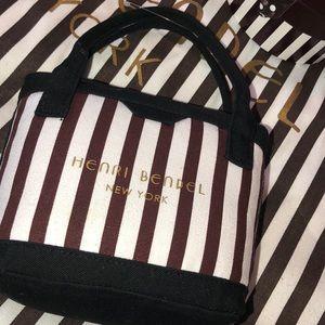 Henri Bendel Centennial Striped Shopping Plush Bag